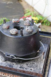 Kürbis Marzipan Mandel Kuchen aus dem Dutch Oven 5