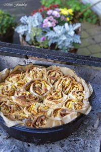 Kürbis Marzipan Mandel Kuchen aus dem Dutch Oven 7
