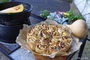 Kürbis Marzipan Mandel Kuchen aus dem Dutch Oven 8