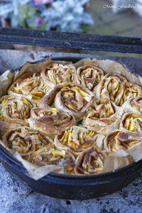 Kürbis Marzipan Mandel Kuchen aus dem Dutch Oven 9