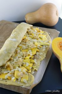 Kürbis Marzipan Mandel Kuchen aus dem Dutch Oven 1