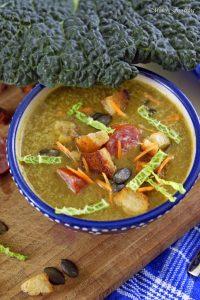Leichte Wirsingsuppe mit Kürbiskernen und Weißwein eine geschmeidige Suppe zum Bloggeburtstag von Geschmeidige Köstlichkeiten 6