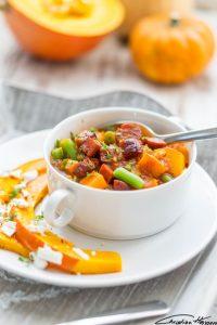 Herbstlicher Chorizo Kürbis Süsskartoffel Eintopf zu Mimis Foodblog Geburtstag von Christian von Erdbeeren und anderes Gemüse