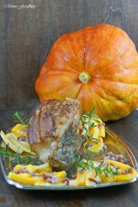 Krustenbraten mit Kürbis das herbstliche Soulfood mit Bier Pflaumen Sauce 4