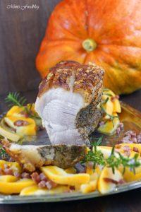 Krustenbraten mit Kürbis das herbstliche Soulfood mit Bier Pflaumen Sauce 6