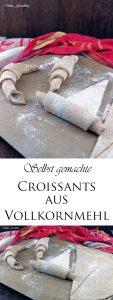 Selbst gemachte Croissants aus Vollkornmehl lasst uns gemütlich brunchen vollwertig und lecker 12