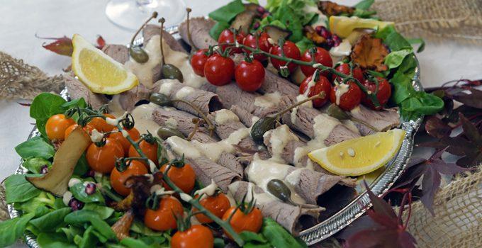 Vitello Tonnato mit Pilzen und Kürbisbrötchen Lecker in den Herbst mit BREE Wein 16