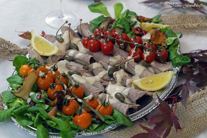 {Anzeige} Vitello Tonnato mit Pilzen und Kürbisbrötchen ~ Lecker in den Herbst mit BREE Wein
