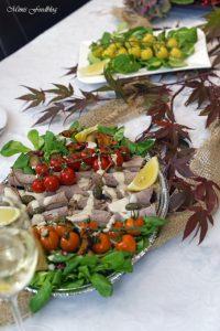 Vitello Tonnato mit Pilzen und Kürbisbrötchen Lecker in den Herbst mit BREE Wein 1