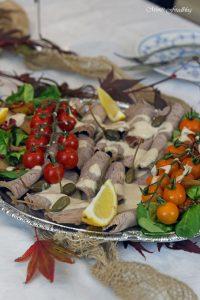 Vitello Tonnato mit Pilzen und Kürbisbrötchen Lecker in den Herbst mit BREE Wein 5