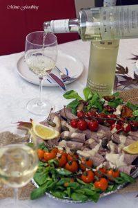 Vitello Tonnato mit Pilzen und Kürbisbrötchen Lecker in den Herbst mit BREE Wein 9