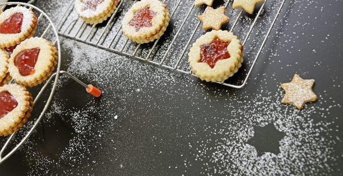 Gefüllte Linzer Plätzchen aus Dinkelmehl die buttrig zarten Klassiker im Advent 6