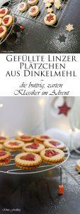 Gefüllte Linzer Plätzchen aus Dinkelmehl die buttrig zarten Klassiker im Advent 10