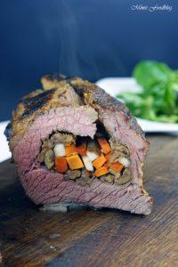Mit Maronen und bunten Möhren gefüllte Rinderbrust Kreative Grillrezepte im Winter mit Campingaz 10
