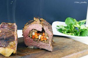 Mit Maronen und bunten Möhren gefüllte Rinderbrust Kreative Grillrezepte im Winter mit Campingaz 11