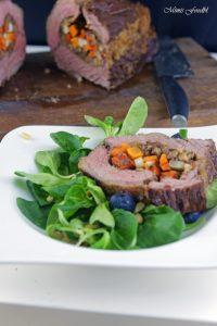 Mit Maronen und bunten Möhren gefüllte Rinderbrust Kreative Grillrezepte im Winter mit Campingaz 12
