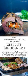 Mit Maronen und bunten Möhren gefüllte Rinderbrust Kreative Grillrezepte im Winter mit Campingaz 13