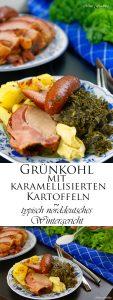 Grünkohl mit karamellisierten Kartoffeln typisch norddeutsches Wintergericht 11