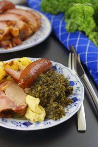 Grünkohl mit karamellisierten Kartoffeln typisch norddeutsches Wintergericht 7