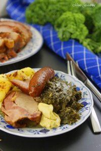 Grünkohl mit karamellisierten Kartoffeln typisch norddeutsches Wintergericht 9