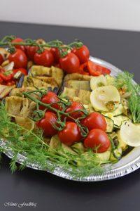 Antipasti Platte vegane Vorspeisenidee für ein geselliges Essen 6