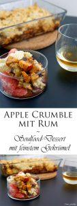 Apple Crumble mit Rum ein Soulfood Dessert mit feinstem Gekrümel 9