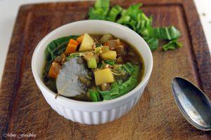 Grünkerneintopf mit Mangold und Karotten eine deftiger Gemüseeintopf 4