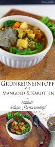 Grünkerneintopf mit Mangold und Karotten eine deftiger Gemüseeintopf 7