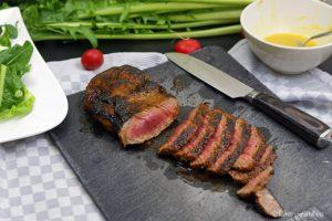 In Honig Senf glasiertes Rumpsteak saftig aromatisches Steak 2