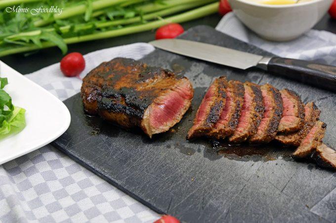 In Honig-Senf-Whiskey glasiertes Rumpsteak ~ saftig, aromatisches Steak