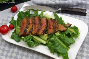 In Honig Senf glasiertes Rumpsteak saftig aromatisches Steak 5
