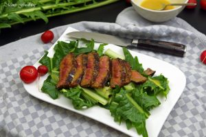 In Honig Senf glasiertes Rumpsteak saftig aromatisches Steak 6