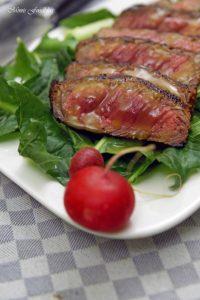 In Honig Senf glasiertes Rumpsteak saftig aromatisches Steak 8
