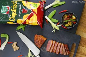 Pekingente mit Asia Gemüse eine kreative Chips Idee für die funny frisch Chips Wahl 2018 2