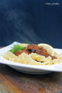 Pasta nach puttanesca Art ein Ausflug in die süditalienische Küche 4