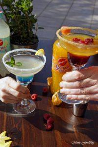 Anzeige Alkoholfreie Maracuja und Limetten Cocktails der fruchtig frische Start in den Sommer mit Sinalco EXTRA 7