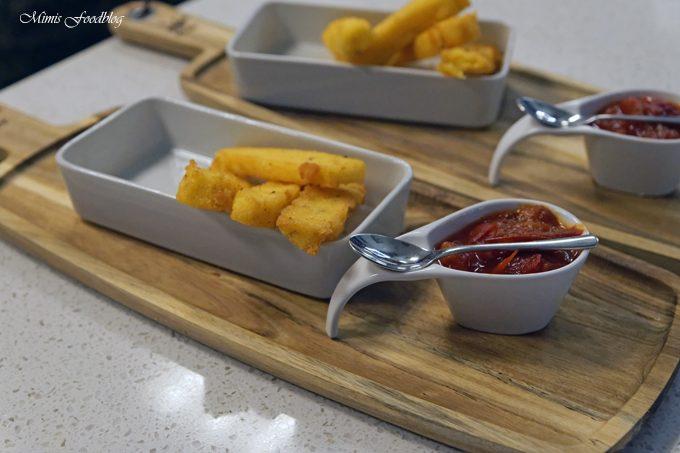 {Anzeige} Polenta-Pommes mit Pfirsich-Tomatenmarmelade ~ Kochevent zum Thema Köstliches vom Kap
