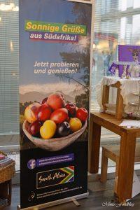 Anzeige Polenta Pommes mit Pfirsich Tomatenmarmelade Kochevent zum Thema Köstliches vom Kap 2