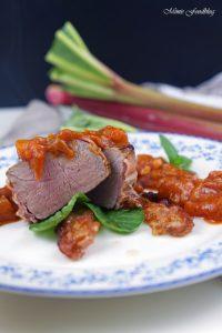 Rhabarber Chutney zu einem Bacon Medaillon eine süß deftige Rhabarber Variation für den Küchenklüngel 5
