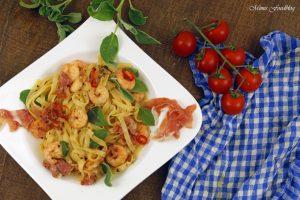 Fettuccine nach Saltimbocca Art mit Shrimps ein italienischer Küchenklassiker variiert 7