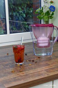 Anzeige Fruchtiger Erdbeer Minz Tee Gewinnspiel Heißes gegen Hitze mit den BRITA Tischwasserfiltern 5 1