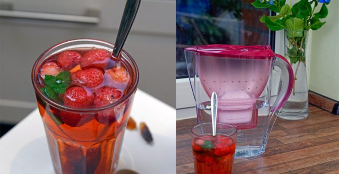 Anzeige Fruchtiger Erdbeer Minz Tee Gewinnspiel Heißes gegen Hitze mit den BRITA Tischwasserfiltern 8