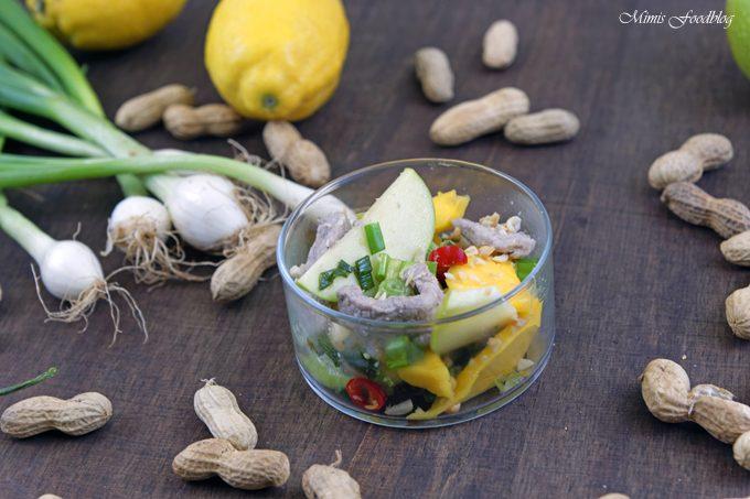 Thailändischer Salat aus grünen Äpfeln und Mangos ~ Yam ma muang, eine kulinarische Urlaubsreise