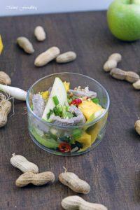 Thailändischer Salat aus grünen Äpfeln und Mangos Yam ma muang eine kulinarische Urlaubsreise 6