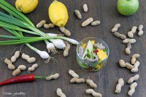 Thailändischer Salat aus grünen Äpfeln und Mangos Yam ma muang eine kulinarische Urlaubsreise 7