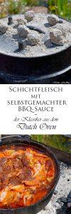 Schichtfleisch mit selbstgemachter BBQ Sauce der Klassiker aus dem Dutch Oven 8