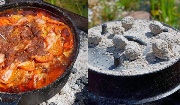 Schichtfleisch mit selbstgemachter BBQ Sauce der Klassiker aus dem Dutch Oven 9