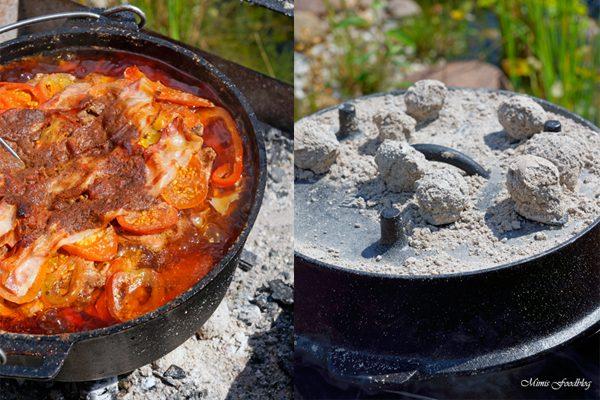 Schichtfleisch mit selbstgemachter BBQ-Sauce ~ der Klassiker aus dem Dutch Oven