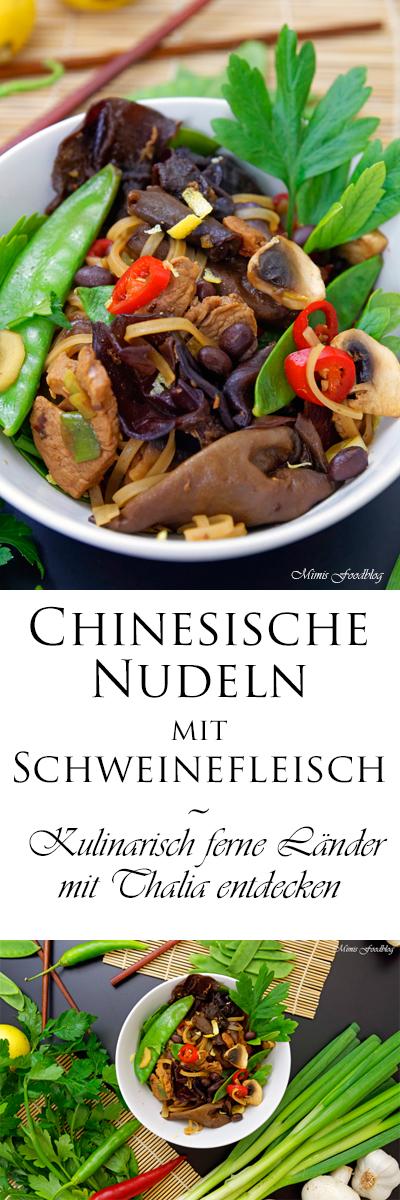 {Anzeige} Chinesische Nudeln mit Schweinefleisch ~ Kulinarisch ferne Länder mit Thalia entdecken