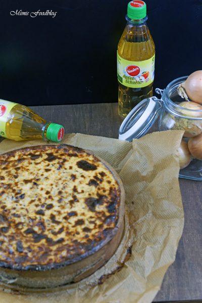 Anzeige Zwiebelkuchen mit Buchweizen Roggenboden dazu die vegane Erfrischung Sinalco 6